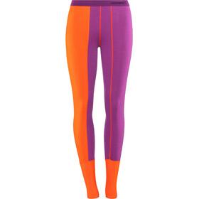 Norrøna Super - Ropa interior Mujer - naranja/violeta